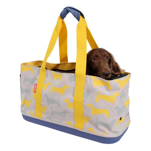 Ibiyaya Sausage Dog Carrier Tote | Yellow Mustard | Peticular