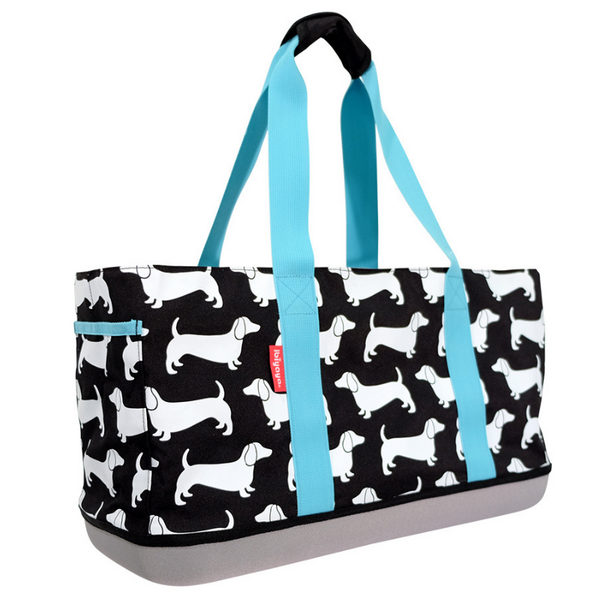 Sausage Dog Carrier Tote | Black Sesame