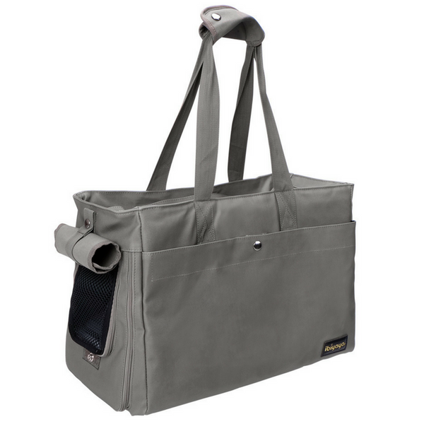 Ibiyaya Canvas Pet Tote Bag | Smoke Grey | Peticular