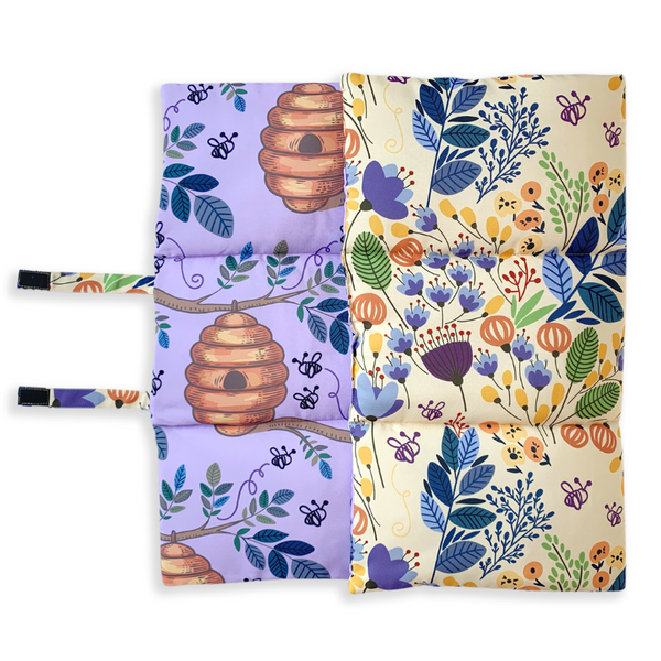 Indie Boho Pet Travel Mat | Blooming Bees | Peticular