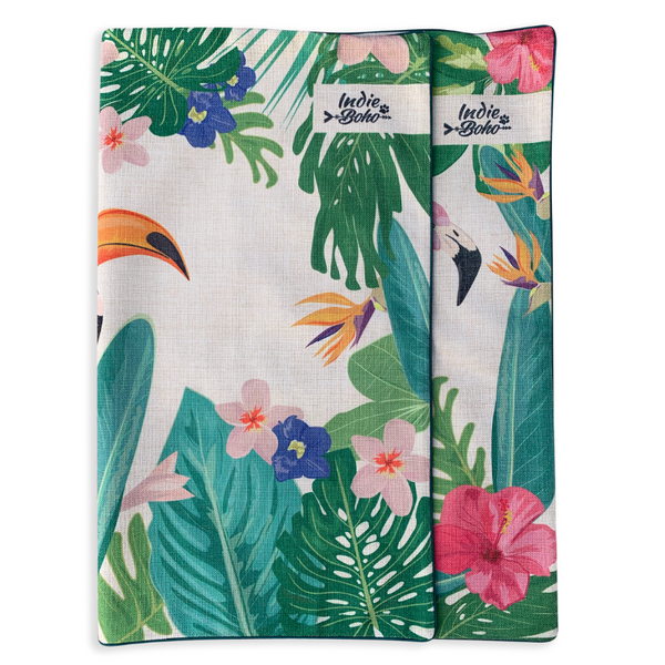 Indie Boho Additional Pet Bed Cover | Flamingo Toucan Paradise | Peticular
