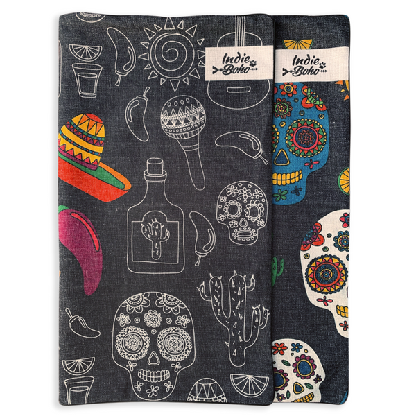 Indie Boho Additional Pet Bed Cover | Mexican Skulls | Peticular