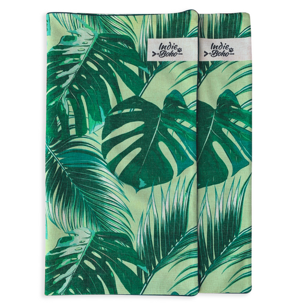 Indie Boho Additional Pet Bed Cover | Tropical Leaves | Peticular