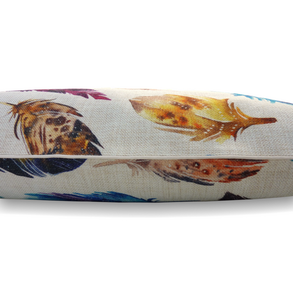 Indie Boho Cushion Pet Bed | Natural Feather Scatter | Peticular