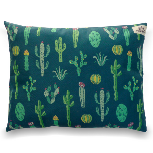 Indie Boho Cushion Pet Bed | Cactus Garden | Peticular