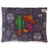 Indie Boho Cushion Bed | Mexican Skulls | Peticular