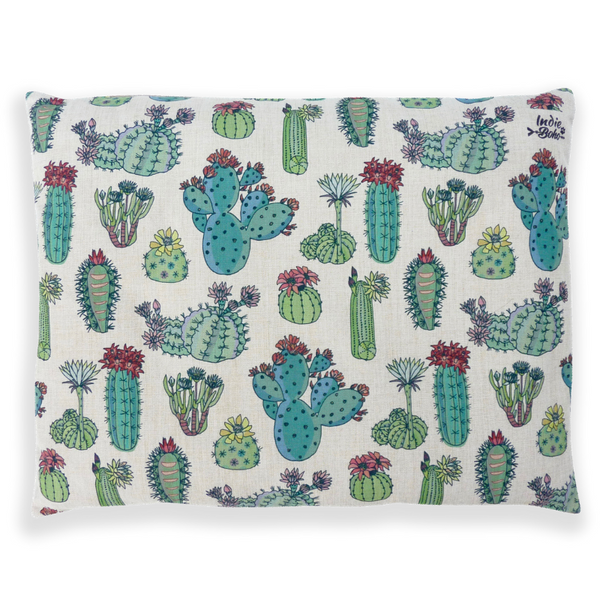 Indie Boho Cushion Pet Bed | Desert Cacti | Peticular