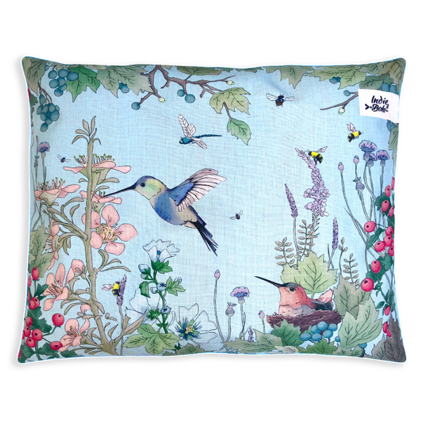Indie Boho Cushion Pet Bed | Hummingbird Fields | Peticular