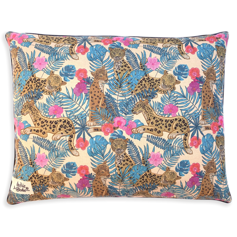 Indie Boho Cushion Pet Bed | Leopard Luxe | Peticular