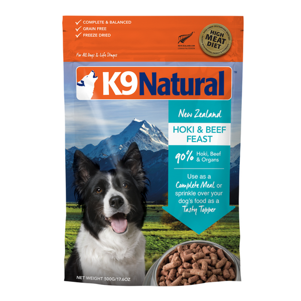 Freeze-Dried Dog Food | Hoki & Beef Feast