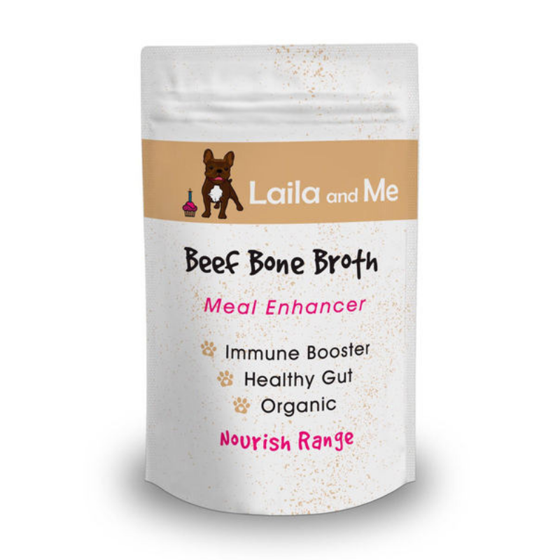 Laila and Me Nourish Meal Enhancer | Beef Bone Broth | Peticular