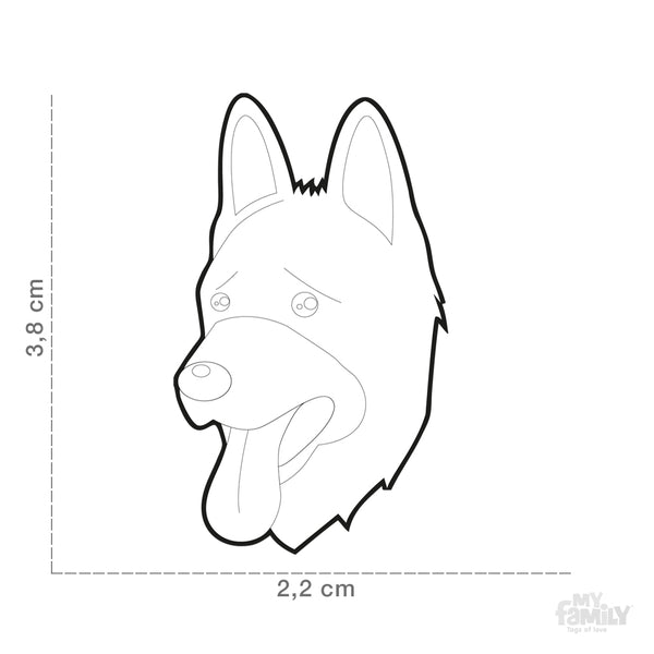 Pet ID Tag | German Shepherd + FREE Engraving
