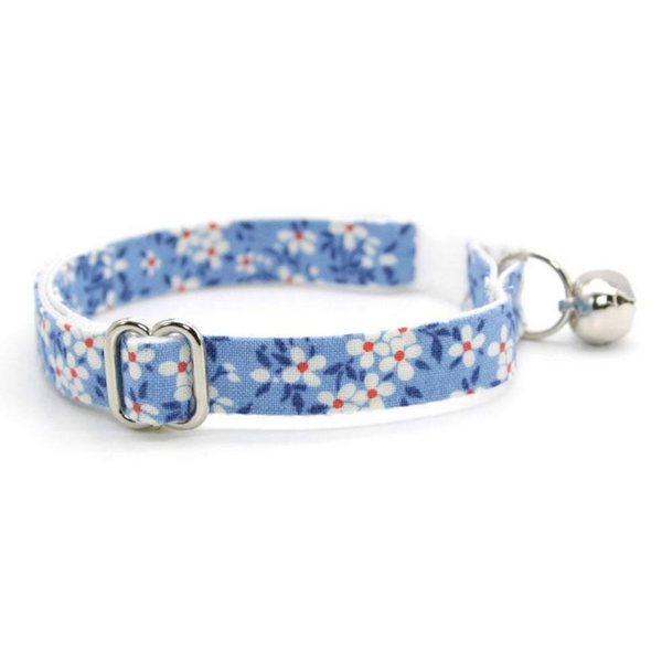 Made by Cleo Blue Meadow Cat Collar | Peticular