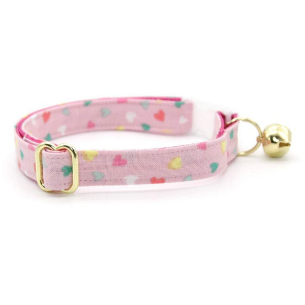 Confetti Hearts Cat Collar