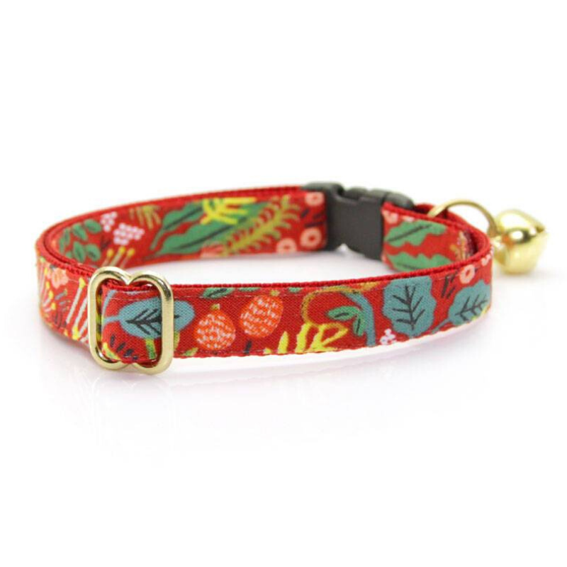 Made by Cleo Jungle Red Cat Collar | Peticular