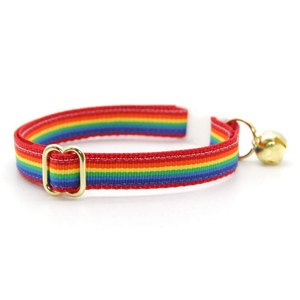 Retro Rainbow Cat Collar