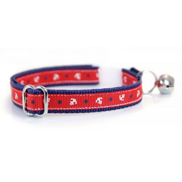 Made by Cleo Anchors Cat Collar | Peticular