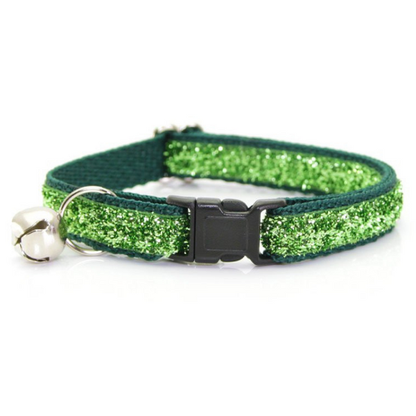Made by Cleo Bewitched Emerald Sparkle Cat Collar | Peticular