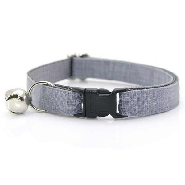 Steel Grey Cat Collar