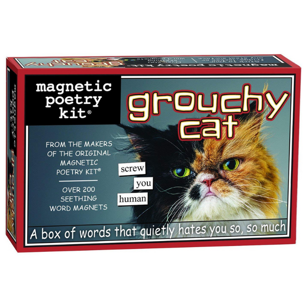 Independence Studios Magnetic Poetry Kit | Grouchy Cat | Peticular