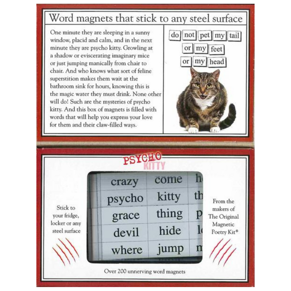 Independence Studios Magnetic Poetry Kit | Psycho Kitty | Peticular