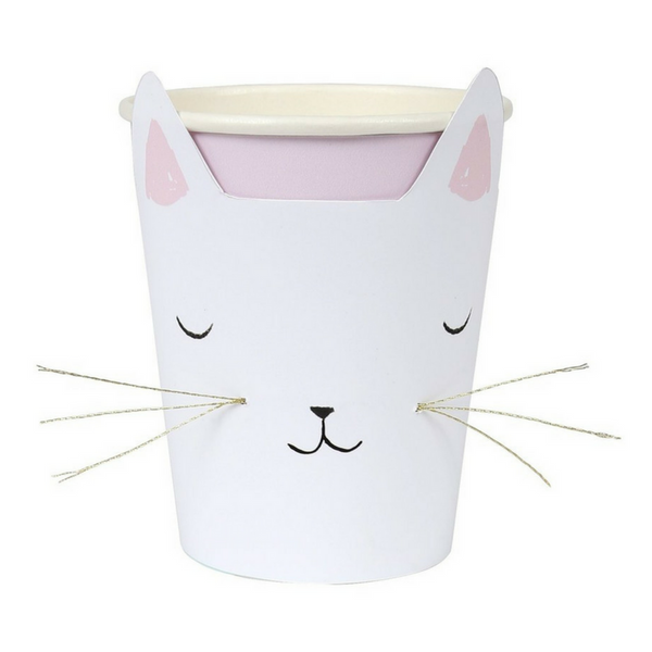Meri Meri Cat With Whiskers Cups | Peticular