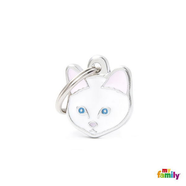 My Family Pet ID Tag | White European Shorthair Cat + FREE Engraving | Peticular