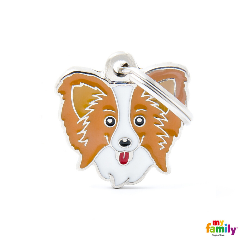 My Family Pet ID Tag | Papillon + FREE Engraving | Peticular