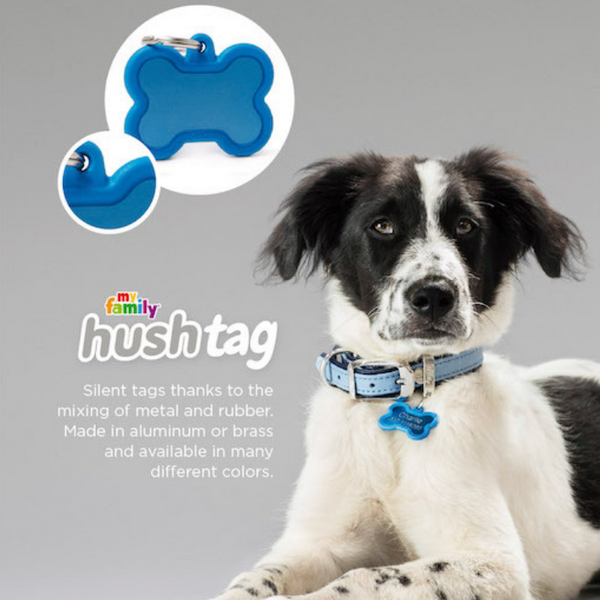 Pet ID Tag | Hushtag Bone + FREE Engraving