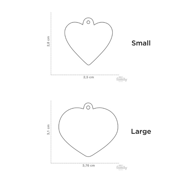 Pet ID Tag | Basic Heart + FREE Engraving