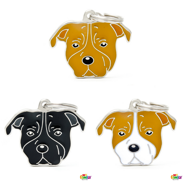 Pet ID Tag | Staffordshire Terrier + FREE Engraving
