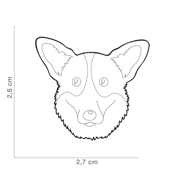 Pet ID Tag | Corgi + FREE Engraving