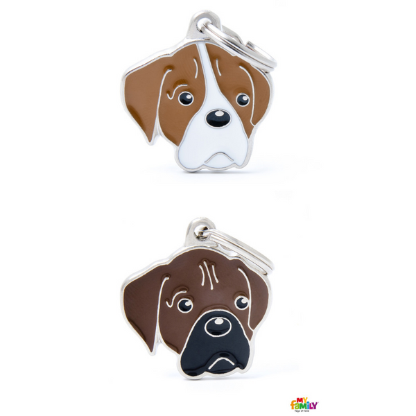Pet ID Tag | Boxer + FREE Engraving