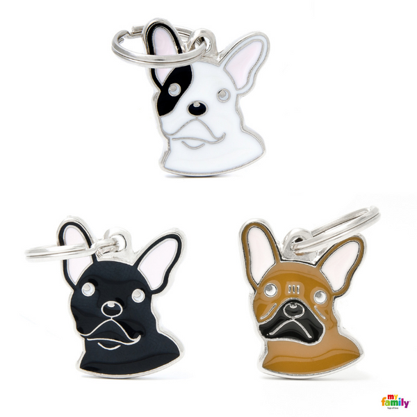 Pet ID Tag | French Bulldog + FREE Engraving