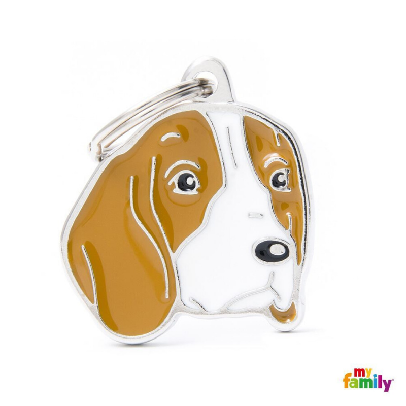 My Family Pet ID Tag | Beagle + FREE Engraving | Peticular