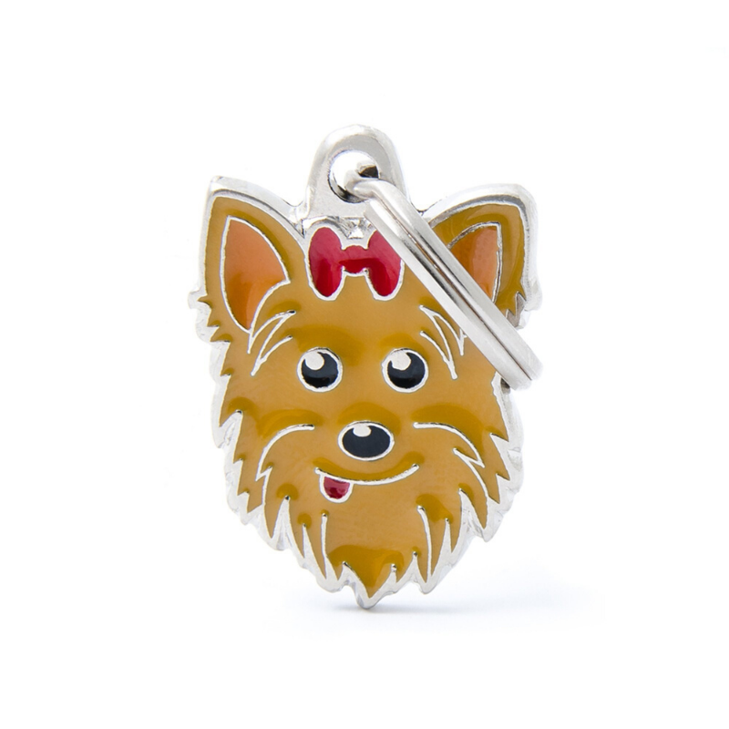 My Family Pet ID Tag | Yorkshire Terrier + FREE Engraving | Peticular