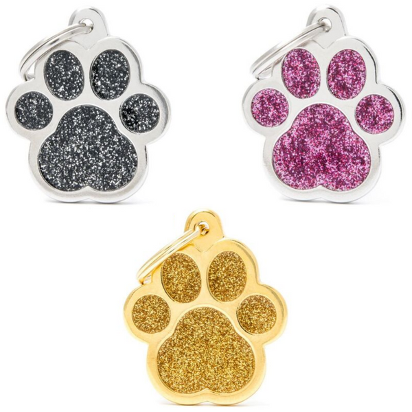 My Family Pet ID Tag | Shine Paw Glitter + FREE Engraving | Peticular