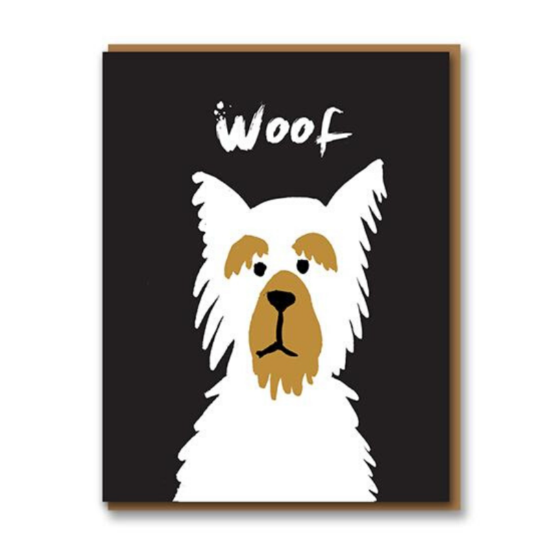 Curated Blank Card | Woof | Peticular