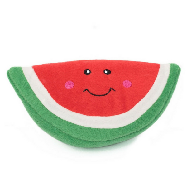 Zippy Paws NomNomz Plush Dog Toy | Watermelon | Peticular