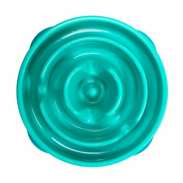 Outward Hound Fun Feeder Slo-Bowl | Teal Drop | Peticular
