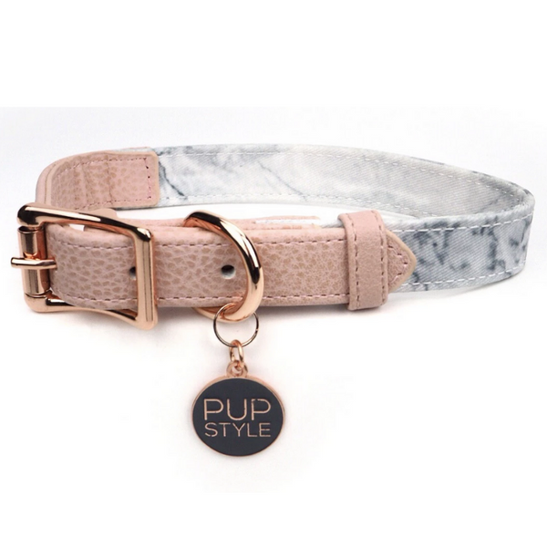 Marble Luxe City Dog Collar