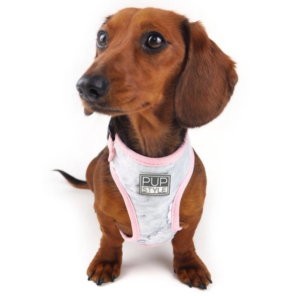 PUPSTYLE Marble Luxe Dog Harness | Peticular