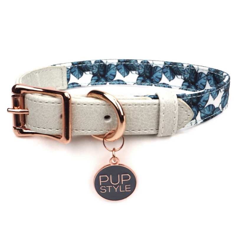 PUPSTYLE Palm Vibes City Dog Collar | Peticular