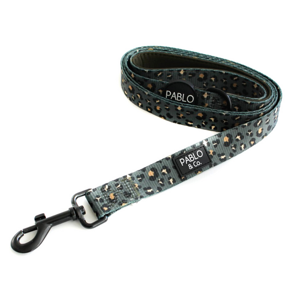 Pablo & Co. The Khaki Leopard Dog Leash | Peticular