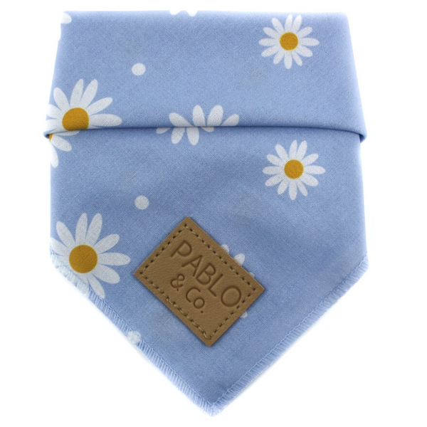 Tie-Up Bandana | Blue Daisy