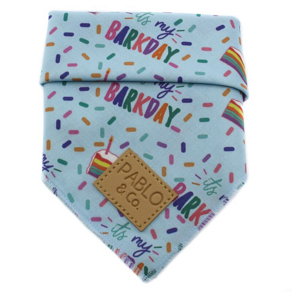 Tie-Up Bandana | It's My Barkday Blue