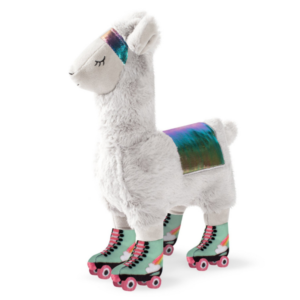 Llama On Roller Skates Dog Toy