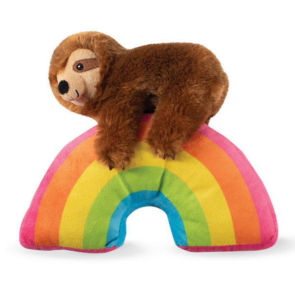 Sloth On Rainbow Dog Toy