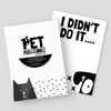 Millie & Edith Pet Milestones Cards | Peticular