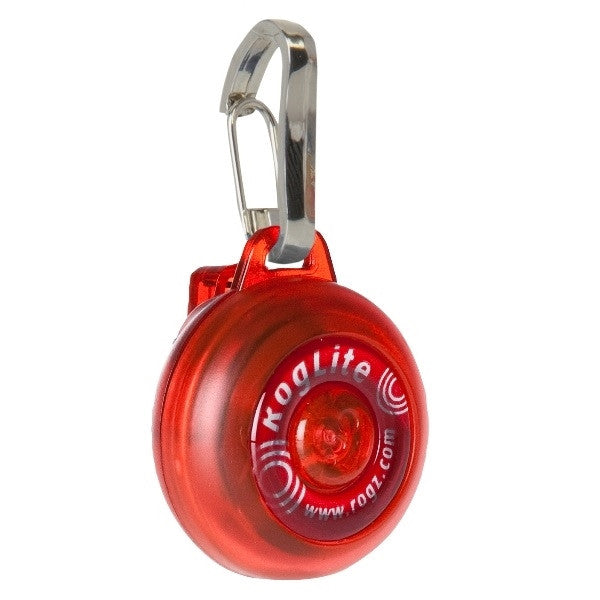 Rogz RogLite Flashing Dog Tag | Red | Peticular